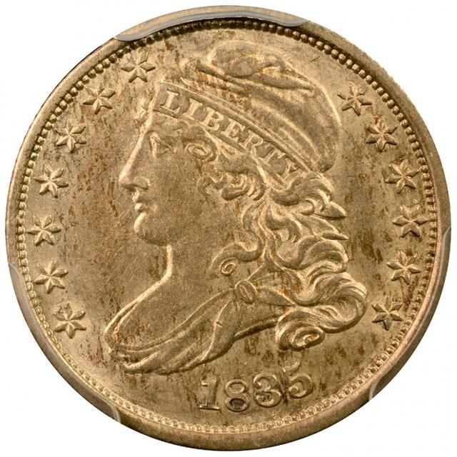 1835 10C Capped PCGS AU58