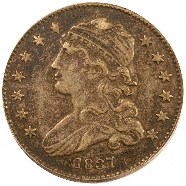 1837 25C Browning-1 PCGS XF40 CAC