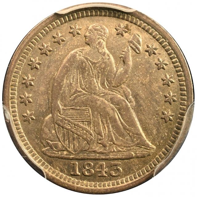 1843 H10C Stars PCGS MS62