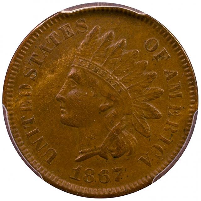 1867 1C Indian PCGS XF45