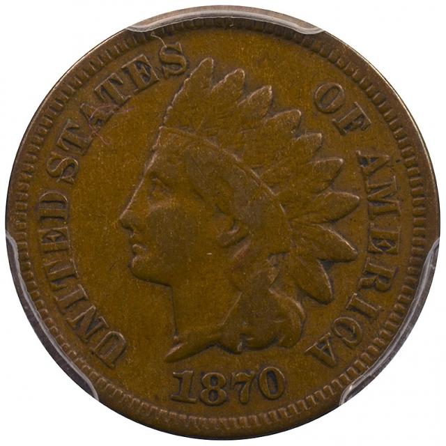 1870 1C Indian PCGS F12