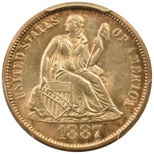 1887 10C Legend PCGS MS64