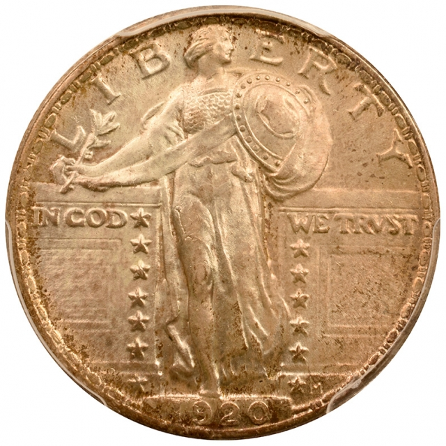 1920 25C Standing PCGS MS64FH Toned