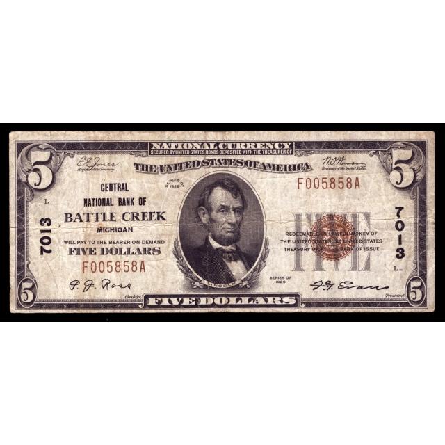 Battle Creek - Michigan - CH 7013 - FR 1800-1 - Fine +