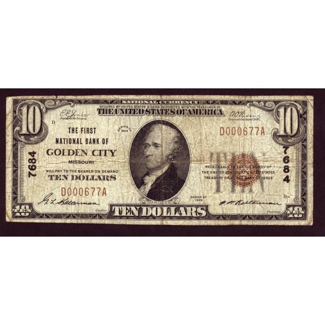 Golden City - Missouri - CH 7684 - FR 1801-1 - Fine