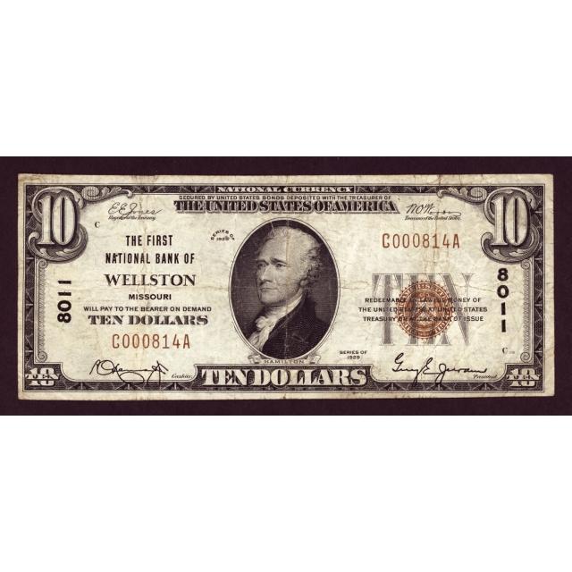 Wellston - Missouri - CH 8011 - FR 1801-1 - F/VF