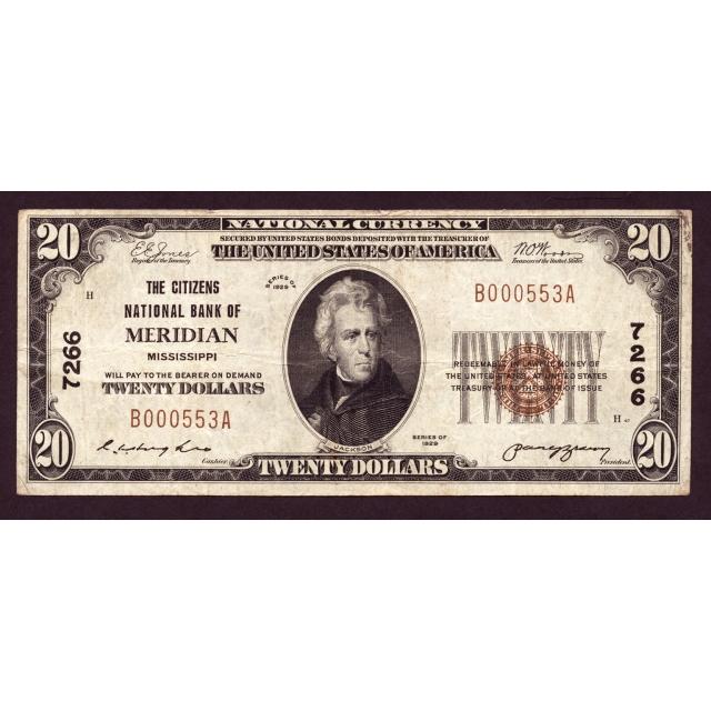 Meridian - Mississippi - CH 7266 - FR 1802-1 - VF