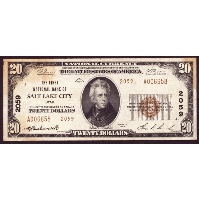 Salt Lake City - Utah - CH 2059 - FR 1802-2 - VF