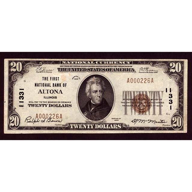 Altona - Illinois - CH 11331 - FR 1802-1 - VF
