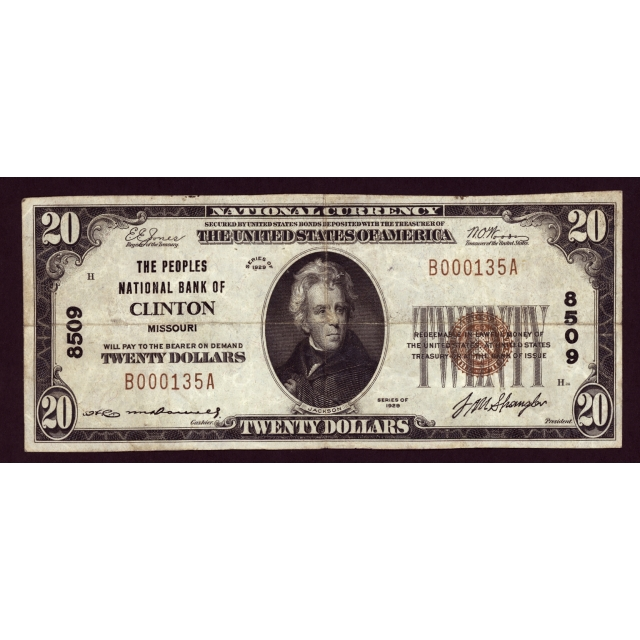 Clinton - Missouri - CH 8509 - FR 1802-1 - VF