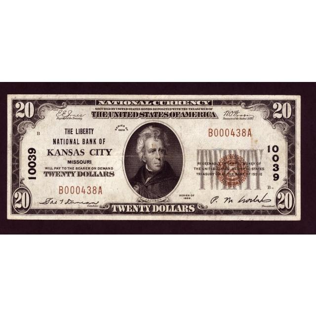 Kansas City - Missouri - CH 10039 - FR 1802-1 - VF