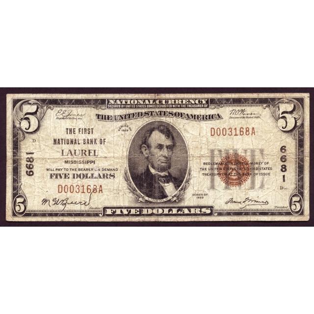 Laurel - Mississippi - CH 6681- FR 1800-1 - Fine