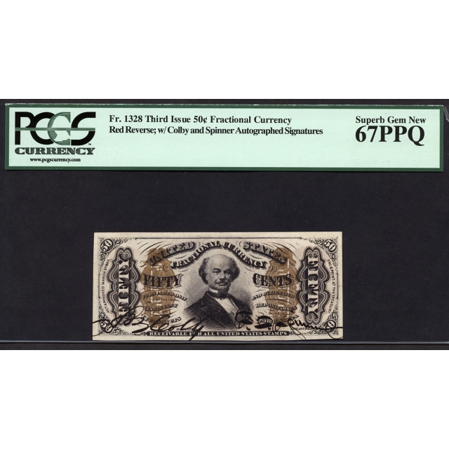FR. 1328 Third Issue 50¢ Fractional Currency PCGS 67 PPQ