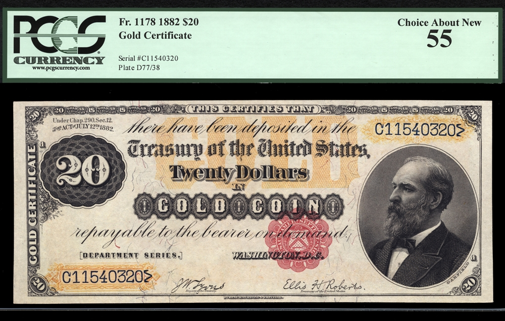 gold certificates currency for sale on collectors corner