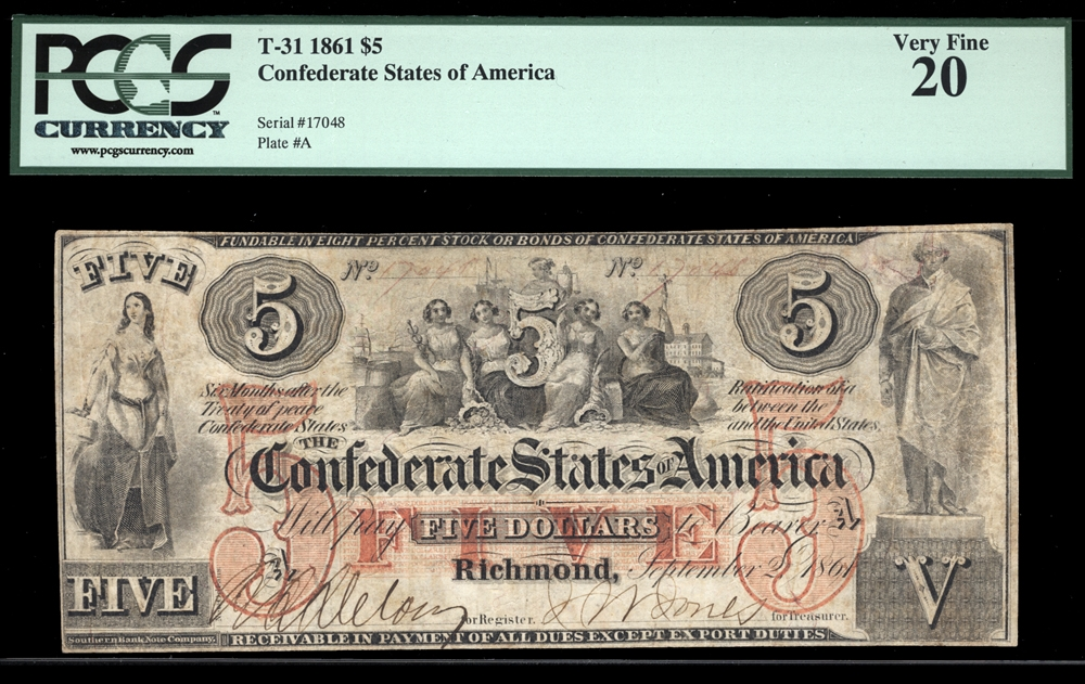 Confederate Notes - Currency for sale on Collectors Corner