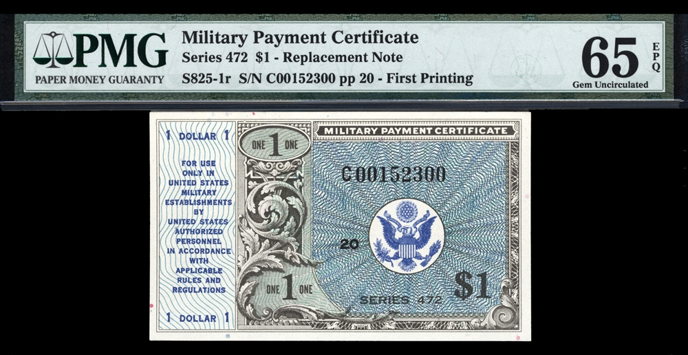 Military Payment Certificates Currency For Sale On Collectors Corner