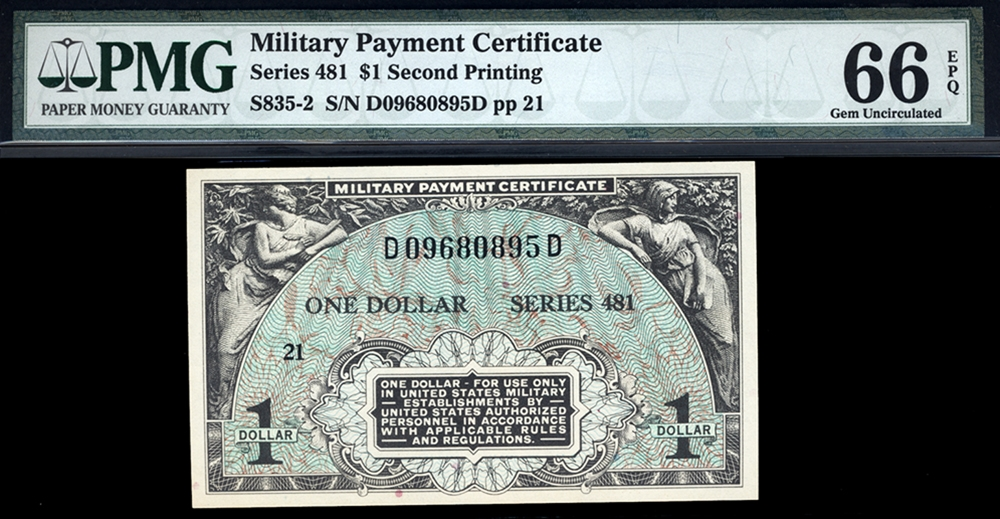 Series 481 Currency For Sale On Collectors Corner