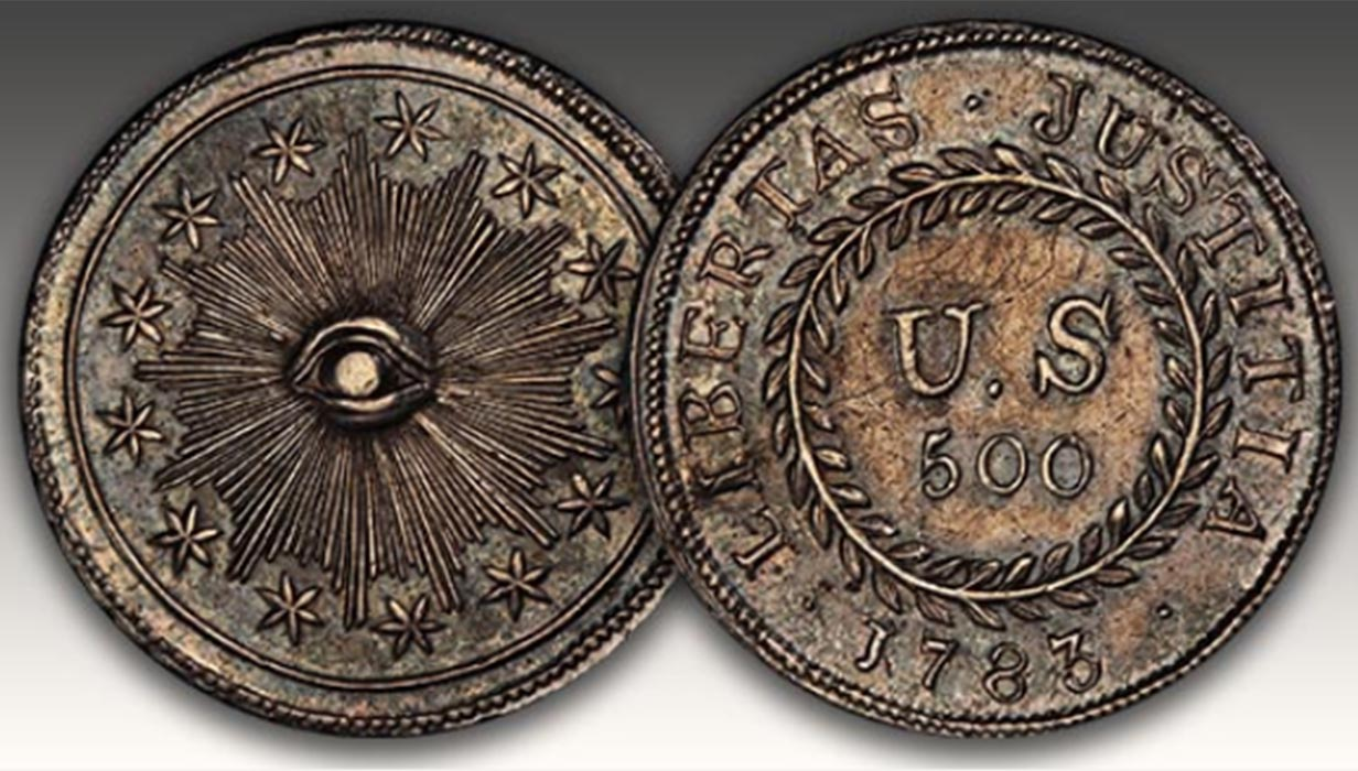 THE FIRST COIN STRUCK BY THE U.S. GOVERNMENT